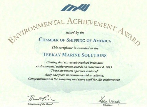 Teekay-Environmental-Achievement-Award-2014-1