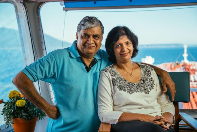 Captain Vinay and his wife