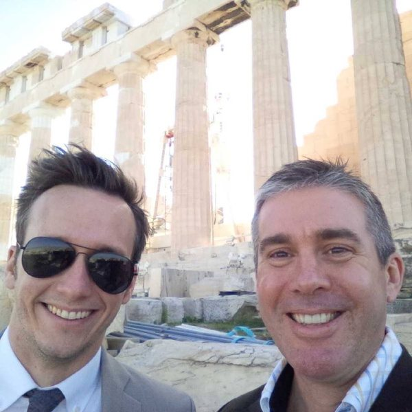 Colin Gray, Chartering and Freight Trading, and Matthew Blake in Athens, Greece