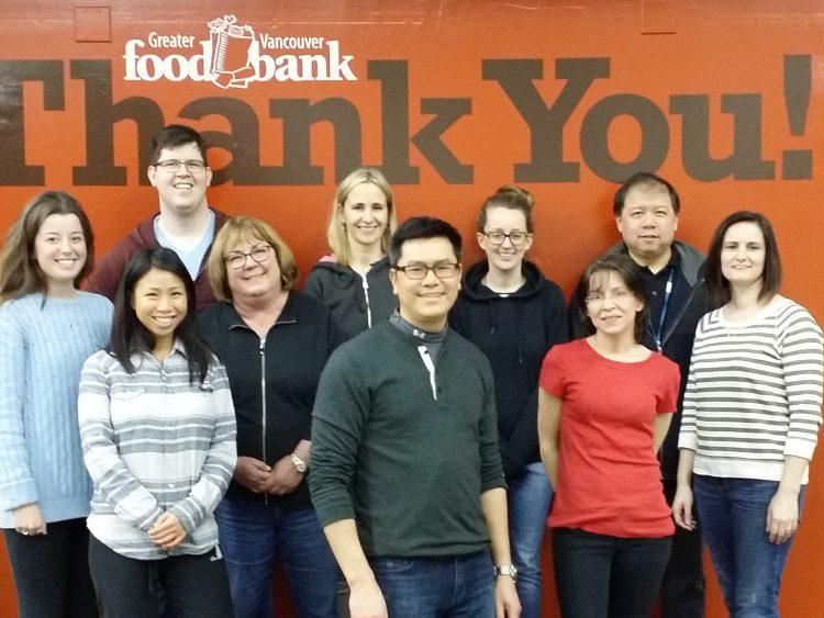teekay volunteers food bank