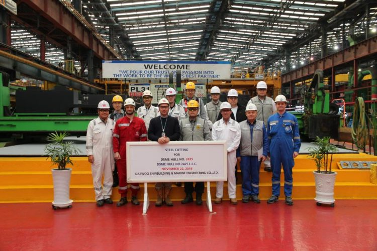 Steel Cutting Ceremony at DSME Shipyard